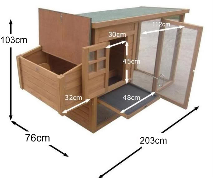 Pdf chicken coop measurements plans free for Chicken coop dimensions